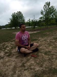 simha meditating