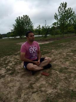 simha meditating